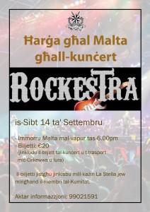 rockestra to malta