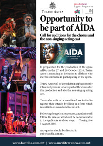 Aida Call for Auditions poster A3