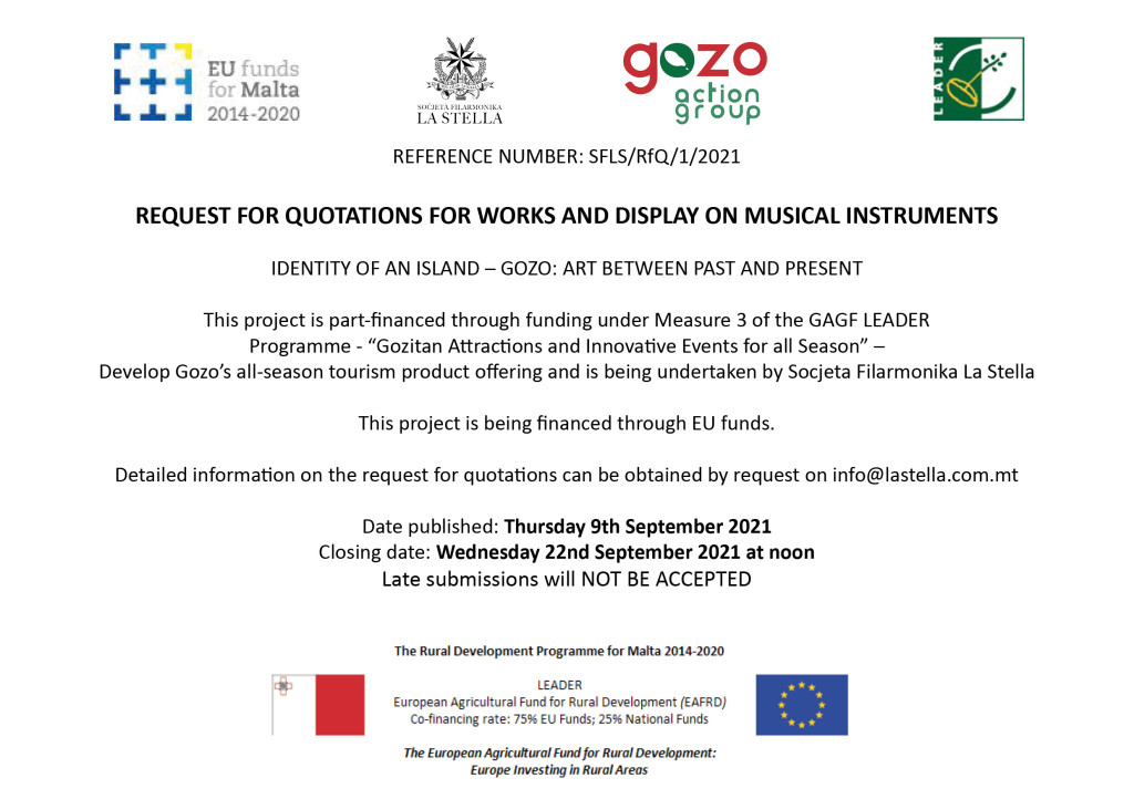 Request for Quotations - Musical Instruments